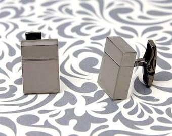 ON SALE Gun Metal 8Gb Usb Cufflinks
