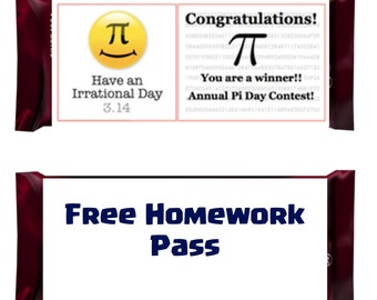 Pi Day - Candy Hershey Bar Wrapper