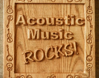 Acoustic Music Rocks wall plaque