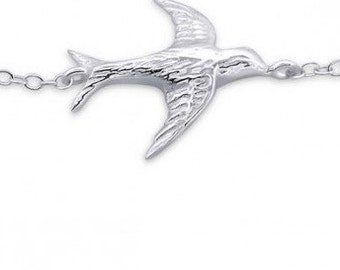 Sterling Silver Bird Bracelet