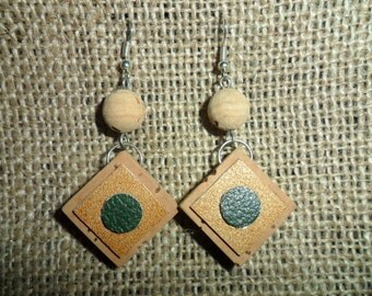 CorkArt-Cork earrings and faux leather
