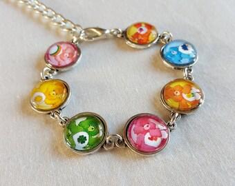 Care Bears, handmade bracelet