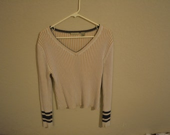 Pink and brown cropped sweater top