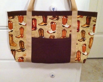 Cowboy boots tote