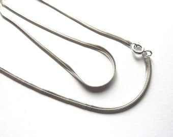 925 silver chain flat snake with clasp 40.5 cm NSC00170-16  inches