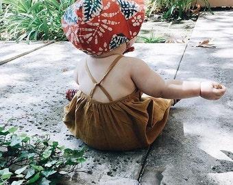 Batik baby bonnet