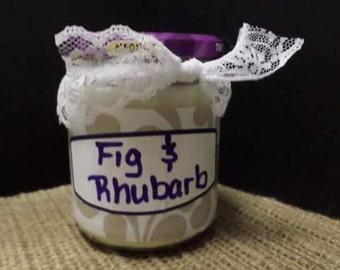 Fig and Rhubarb Soy Candle Recycled