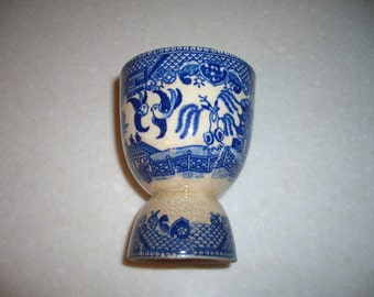 Vintage Blue Willow Egg Cup...Made in Japan