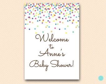 Personalized Baby Sprinkle Welcome Sign, Welcome Sign, Baby Shower Welcome Sign, Confetti Bridal shower sign, baby shower sign TLC108