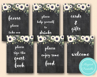 Outdoor Garden Printable Signs, Cards Gifts, Welcome, Favors, Bridal Shower Signs, Baby Shower Sign, Wedding Sign TLC200 BS200