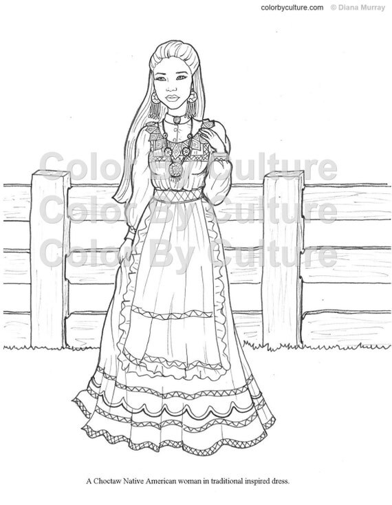 fashion coloring book printable around the world coloring pages volume 3 cultural coloring pages adult coloring pages - Fashion Coloring Book