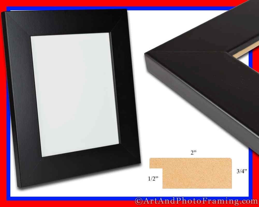 Black Picture Frame 2 Quot Wide Black Photo Frame Flat Epp