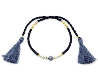 Adjustable bracelet, Friendship Bracelet, Multicolor Bracelet, Boho jewelry, Tassel Bracelet