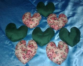 Vintage handmade hearts
