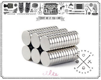 10PCS 12MM SUPER strong neodymium disc magnets Button / Rare Earth Disc Magnets.