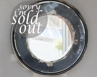 Reclaimed Oil Drum Mirror in Black