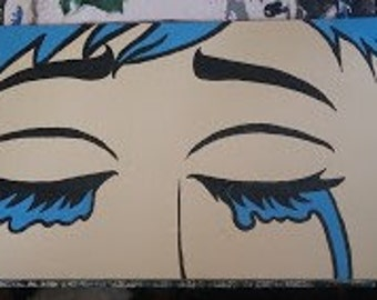 Crying Girl, Pop Art Painting