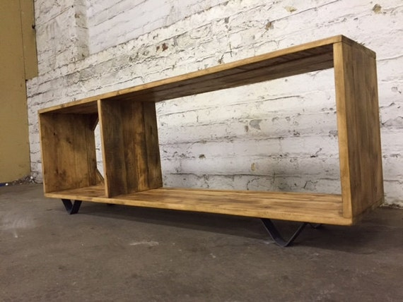 Modular Reclaimed Wood Tv Unit. Made To Measure Low Sideboard