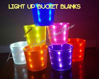 Halloween LIGHT UP bucket BLANKS