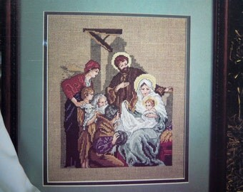 Nativity Christmas counted cross stitch pattern design by Carol Emmer