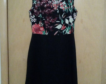 Clearance was 57 now 39. 60s/70s Authentic Vintage Psychedelic/Psychadelic Flower Pattern Mod Dress by Sears Fashions