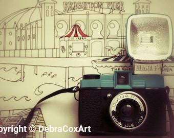 Still Life Photography, Camera Art Print, Retro Photography, Nursery Decor, 60s Decor, Pastel Decor, Kids Wall Art - My Vintage Diana Camera