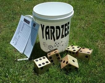 Yardzee, outdoor game, camping, lawn game, yard-zee