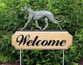 Greyhound Welcome Garden Stake