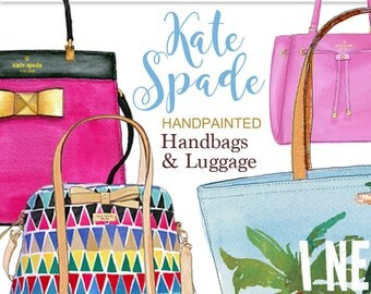 Hand bag clipart Kate Spade clipart fashion illustration fashion clipart fashion graphics travel clipart suitcase graphics Printablehenry