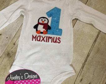 First birthday winter onederland! Onesie or tshirt. Personalized!