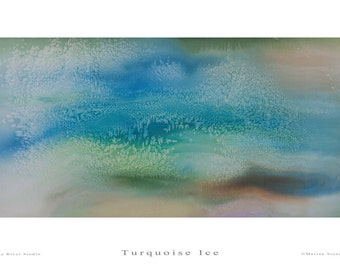 Fine Art Print - Turquoise Ice - Marina Stuart