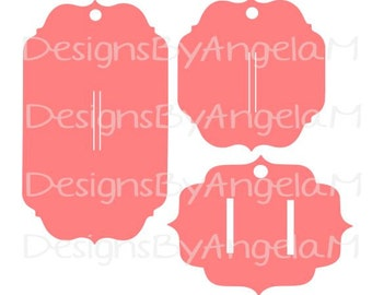 Set of 3 Hair Bow Holders Hair Barrette SVG Digital cutting file  Instant Download - Use on your cutting machine Vector File