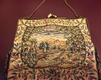 1950's Petit Point Handbag.