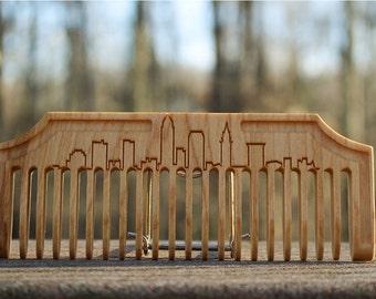Beard Comb: Cleveland Skyline