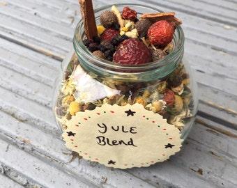 Yule casting herbs 5oz glass jar