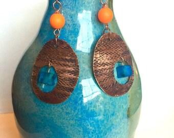 Bohemian hanmade Copper Earrings