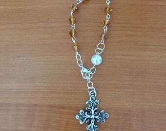Topaz (November Birthstone) Bracelet Rosary