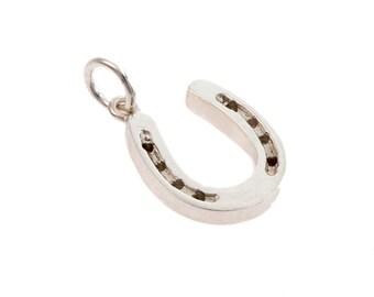 Silver Horseshoe Charm