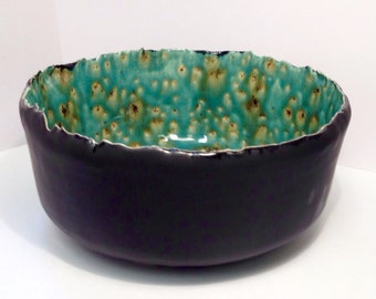 Handmade large ceramic bowl