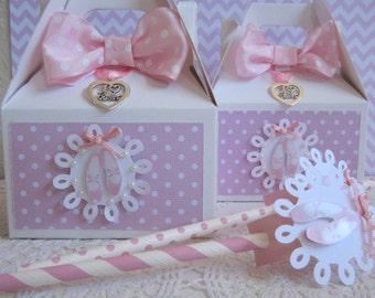 Ballerina Favor Boxes, Ballerina Favor Bags, Favor Boxes, Ballerina Favors, Girl Birthday Favor Boxes, Ballerina Straws, Girl Favor Boxes.
