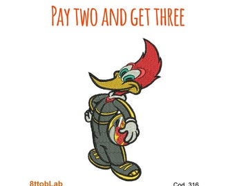 Embroidery designs Woody Woodpecker race