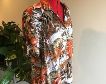 Leopard print jungle shirt