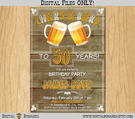 50th birthday invitation cheers beers invite surprise birthday old il570xn stopboris Images