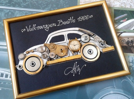 Steampunk gift for car enthusiast Gift for car lover Car made