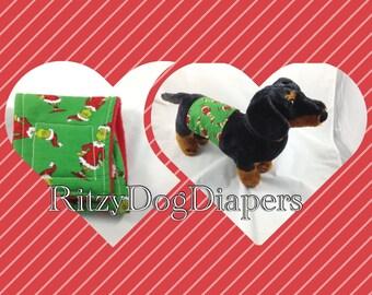 Santa Dog Belly Band - Christmas