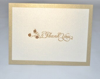 Thank you Hand Embossed / Handmade Greeting Card.