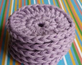 5 x 100% cotton crochet face scrubbies