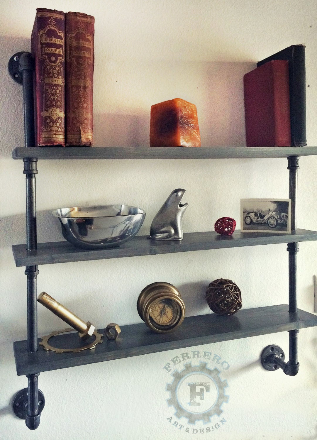 Steampunk Shelves Shelving Shelf Pipe Shelf Industrial Shelves