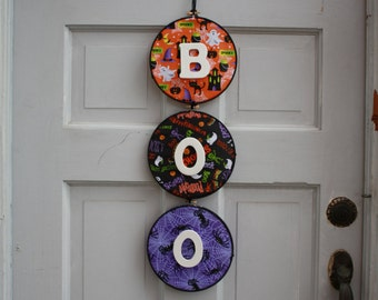 BOO-Halloween decorative hanging sign