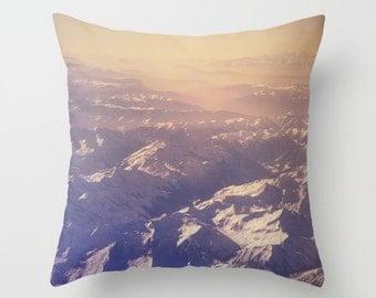 Mountain pillow, mountain cushion, purple pillow, purple cushion, purple decor, throw pillow,scatter cushion, photography pillow, wanderlust